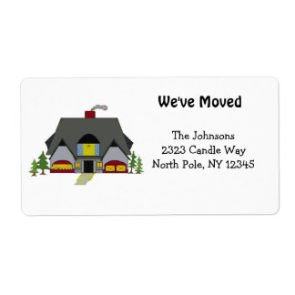 New Home Address Personalized Shipping Label