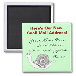 New Home Announcement Magnet