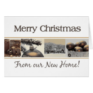 New Home announcement Merry Christmas Greeting Card