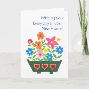 Best new home wishes cards zazzle new home best wishes greeting card flower power m4hsunfo