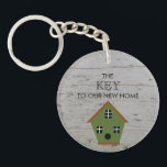 "New Home Birdhouse key to our new home wood Keychain<br><div class=""desc"">Moving to a new home is a big milestone is our lives.