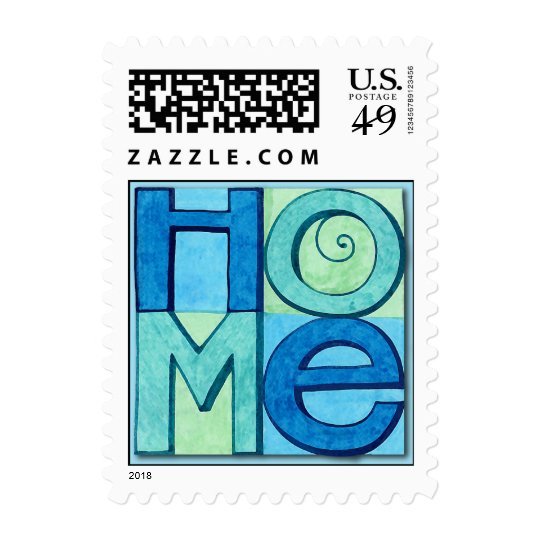New Home blue Postage