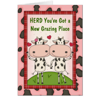 New Home Buyer Congratulations - Cows Card