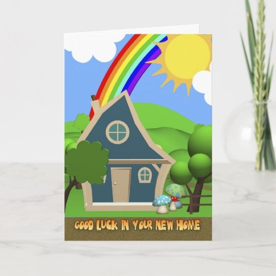 New home cartoon house greeting card zazzle new home cartoon house greeting card m4hsunfo