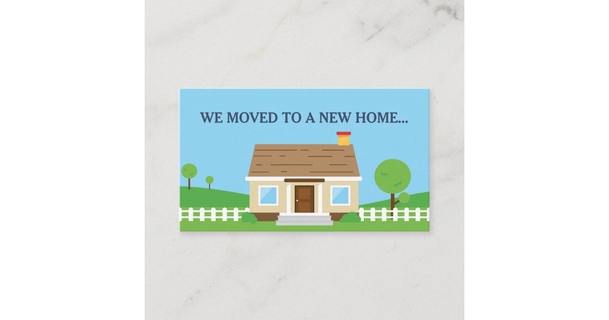 New Home Change of Address Business Card | Zazzle.com