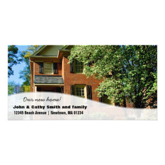 New home Change of Address Custom Photo Cards