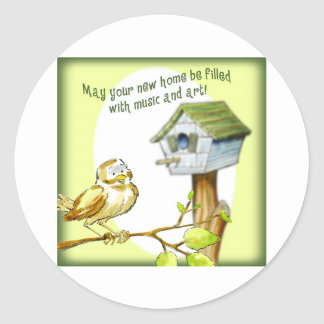 New Home Classic Round Sticker