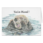 New Home Congrats Humour  Cute Excited Otter Greeting Card