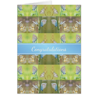 New Home Congratulations Butterfly Collage Card