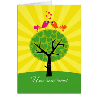 New Home Congratulations-Two Birds on a Tree Greeting Card