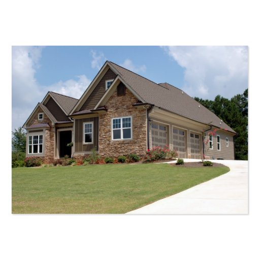 New home construction large business cards pack of 100 for Home builder company
