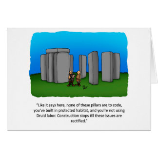 New Home Construction Humor Greeting Card