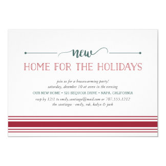 New Home for the Holidays Housewarming Invitation