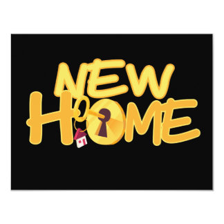 New Home Front Door Key Personalized Card