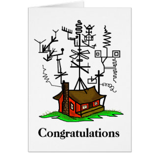 New Home  Ham Radio Greeting Card  Customize It!