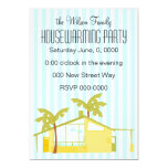 """New Home in the Palms 5"""" X 7"""" Invitation Card"""