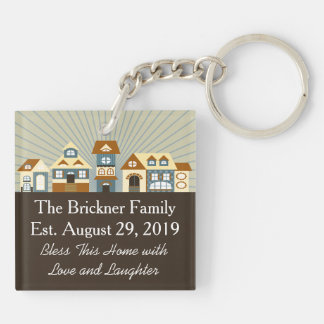 New Home Just Moved Keychain