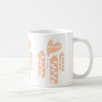 New Home love heart illustration of flats add text Coffee Mug