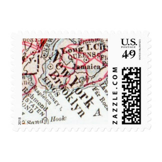 New Home New York Map Stamp Housewarming Gift