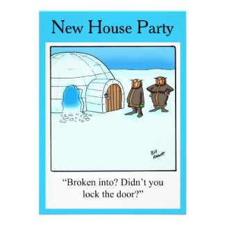 New Home Party Invitations