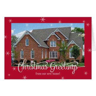 New Home Photo Christmas Card