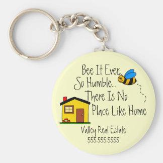 New Home-Real Estate Broker Basic Round Button Keychain