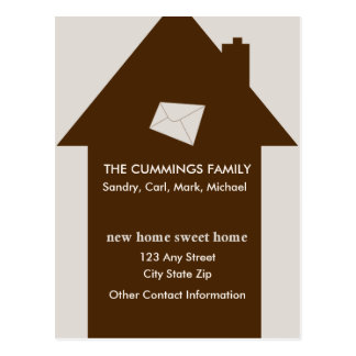 New Home Sweet Home Postcard (Taupe)