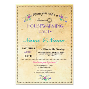Cute Housewarming Engagement Party Invitations Zazzle