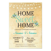 New Home Sweet HouseWarming Key Lights Cute Invite
