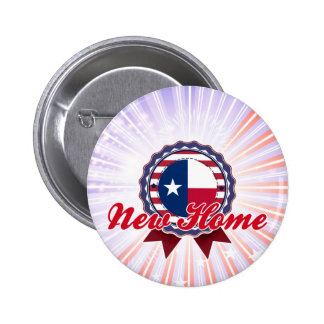 New Home, TX Pinback Buttons
