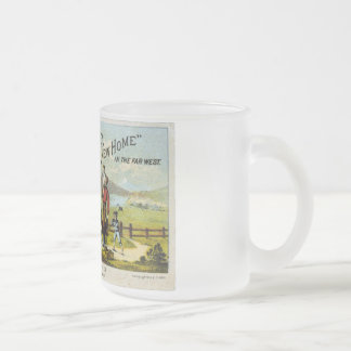 New Home with Sewing Machine Frosted Glass Coffee Mug