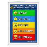 New Homeland Security Advisory System Greeting Cards