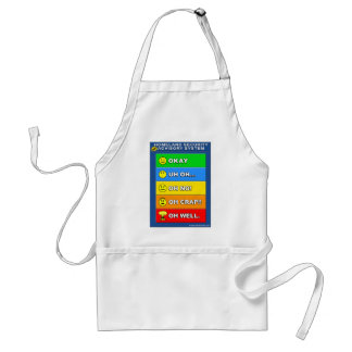 New Homeland Security Advisory System - Funny Adult Apron