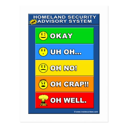 New Homeland Security Advisory System Post Cards