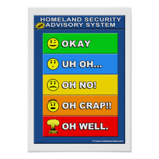 New Homeland Security Advisory System Poster