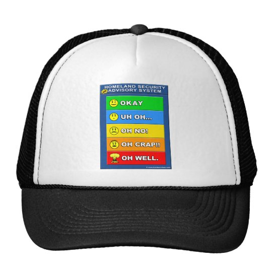 New Homeland Security Advisory System Trucker Hat