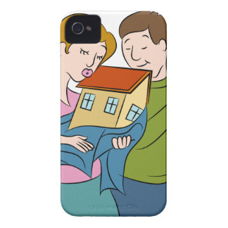 New Homeowners Cartoon iPhone 4 Cases