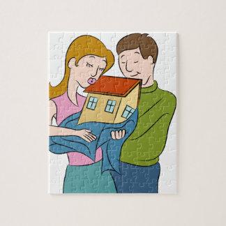 New Homeowners Cartoon Jigsaw Puzzle