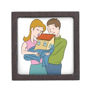New Homeowners Cartoon Keepsake Box
