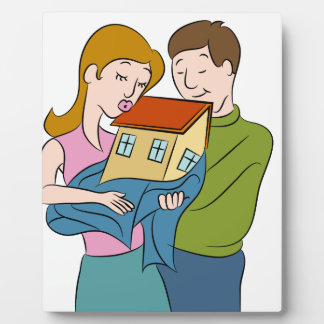 New Homeowners Cartoon Plaque