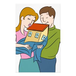 New Homeowners Cartoon Stationery