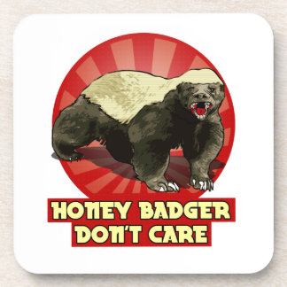 New Honey Badger Don't Care Drink Coasters