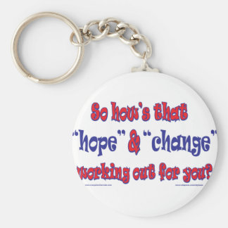 NEW-HOPE-AND-CHANGE-Funky Script Keychain