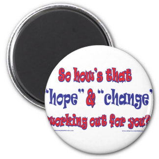 NEW-HOPE-AND-CHANGE-Funky Script Magnet