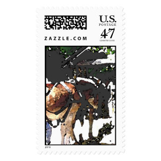 New Hope Canal Barge Mules Postage