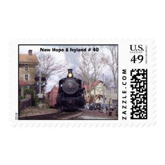 New Hope & Ivyland Steam Engine # 40 Postage Stamp