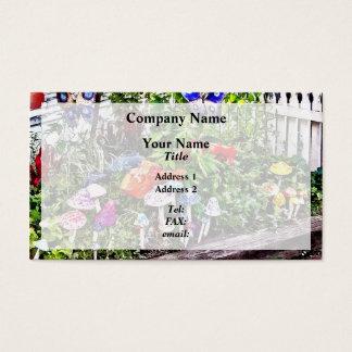 New Hope Pa - Garden Of Ceramic Mushrooms Business Card