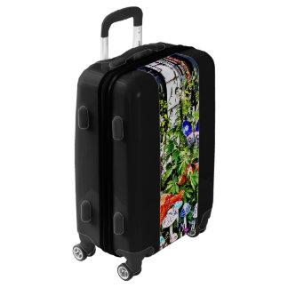 New Hope Pa - Garden Of Ceramic Mushrooms Luggage