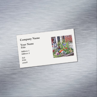 New Hope Pa - Garden Of Ceramic Mushrooms Magnetic Business Card