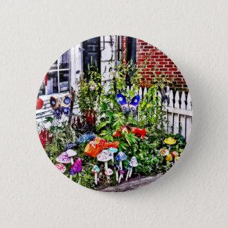 New Hope Pa - Garden Of Ceramic Mushrooms Pinback Button